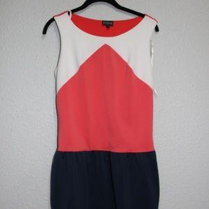 Enfocus Studio Color Block Drop Waist Dress EUC